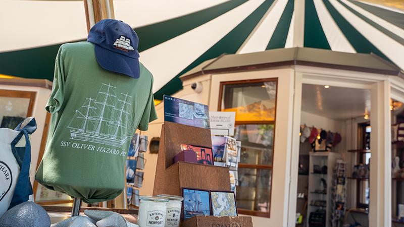 Bowens Wharf Pilot House Merchandise Table