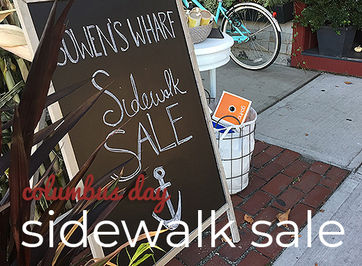 Columbus Day Sidewalk Sale