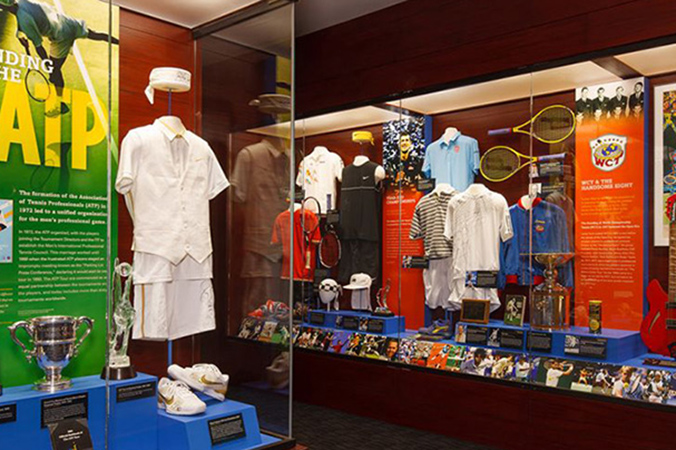 International Tennis Hall of Fame Display Cases